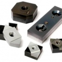 Adaptive blade systems for shredder with replaceable carbide inserts