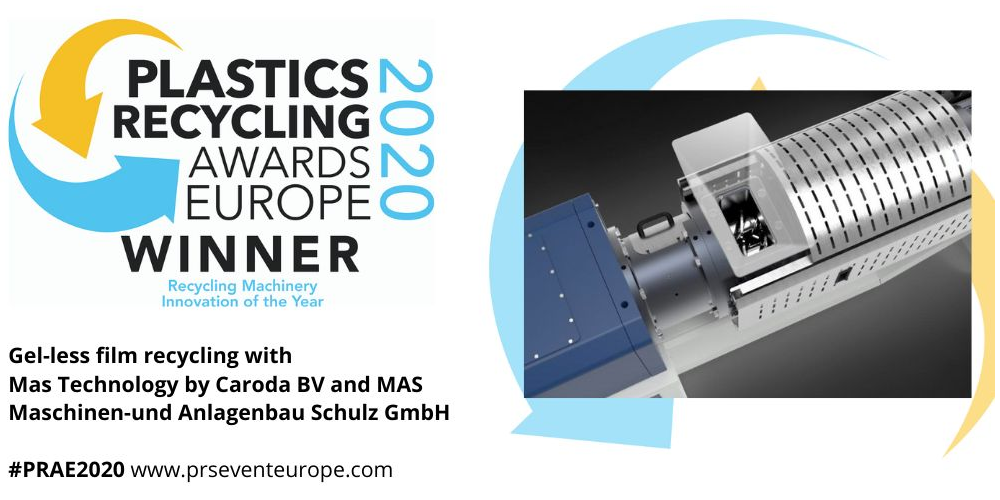 eFACTOR3 - MAS Announced as 2020 Winner of the Recycling Machinery Innovation Award